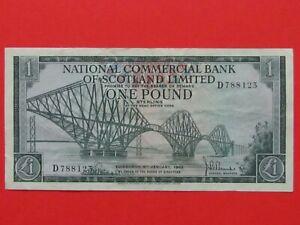 SCOTLAND ( 1968 RARE ) ONE POUND HIGH GRADE BEAUTIFUL RARE BANK NOTE