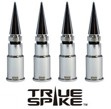 4 TRUE SPIKE CHROME SPIKED WHEEL RIM TIRE AIR VALVE STEM COVER CAP FOR ACURA