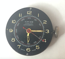 Vintage Cimier Jeweled Men's Watch Movement Swiss Made Parts Repair Military