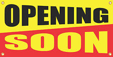 OPENING SOON 2'x4' VINYL RETAIL BANNER SIGN