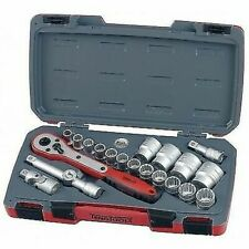 Teng Tools T1221 1/2 Drive Socket Ratchet Tool Set 21 Pieces + Hard Case