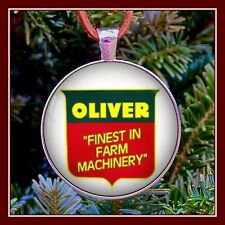Vintage Oliver Farm Machinery Sign Photo Ornament Pendant Christmas Gift Tractor