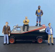 1/64 A-Team Figures & 1/64 Greenlight 1983 Gmc Vandura