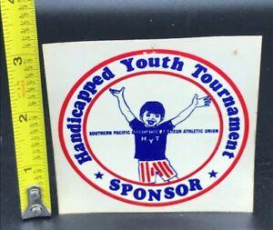 Vintage Handicapped Youth Tournament Sponsor Decal AAU Amature Athletic Union