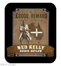 Ned Kelly 'Aussie Outlaw' Fleece Throw Blanket or Wall Hanging 152cm x 127cm NEW