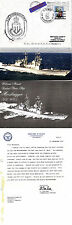 USS MOOSEBRUGGER DD 980 DESTROYER NAVAL CACHED COVER PICTURE BROCHURE & LETTER