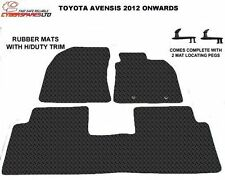 Toyota Avensis 2012 Onwards Fully Tailored Rubber Car Mats