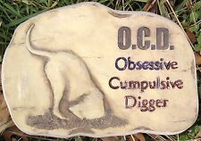 Dog O.C.D., Stepping Stone, Concrete Mold, plastic mold, cement, plaster