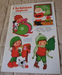 Christmas Playbook Fuld & Co Christmas Cards Figures Fun Games Unused