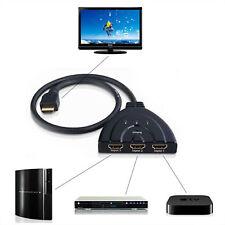1080P 3 Port HDMI Splitter Cable Multi Switch Switcher HUB Box LCD HDTV  LW