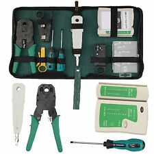 RJ45 Cat5e RJ11 Lan Network Ethernet Cable Crimping Tool Tester Crimper Stripper