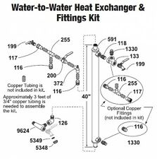 Central Boiler Water-to-Water Heat Exchanger & Fittings Kit
