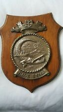 Italian Navy  Plaque Crest NAVE ETNA Brass mounted on Wood