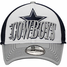 NFL Dallas Cowboys Mens New Era Navy Blue Word Rush Neo 39THIRTY Flex Hat