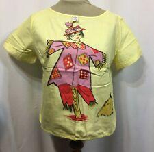 Vintage 50s Top Blouse Novelty Girl Scarecrow Crop Rockabilly Cotton
