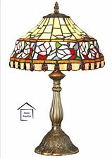 TIFFANY HANDCRAFTED TABLE LAMP MEDIUM SIZE-Ideal For Christmas Gift-12 INCH WIDE