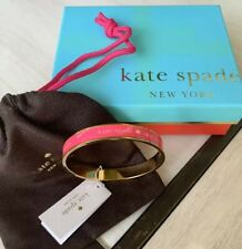 Live Colorfully Bangle with Gift Box And Bag Nwt Kate Spade New York Gold & Pink