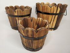 Wood Nesting Baskets/Planters