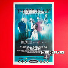 Flyleaf 2014 Original 11x17 Concert Promo Street Poster. Seattle Washigton