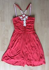 Gorgeous Coral CACHAREL Dress UK 8 FR 36 Vintage