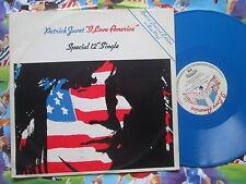 Patrick Juvet I Love America Casablanca CAF 132 UK BLUE Vinyl 12inch Maxi-Single