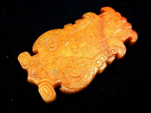 Old Nephrite Jade Carved Sculpture Big Eyes Ancient Bug #09202009