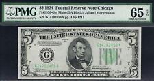 $5 1934 Chicago Mule. Fr. 1956-Gm. PMG 65 EPQ. Not Often Seen on eBay