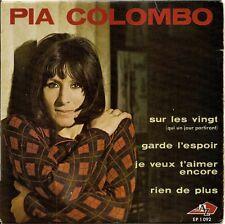 """PIA COLOMBO """"SUR LES VINGT"""" 60'S EP"""