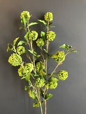 Bunch of Green Artificial Snowball Hydrangeas, Realistic Faux Silk Greenery