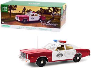 "1977 DODGE MONACO ""FINCHBURG COUNTY SHERIFF"" 1/18 DIECAST MODEL GREENLIGHT 19097"