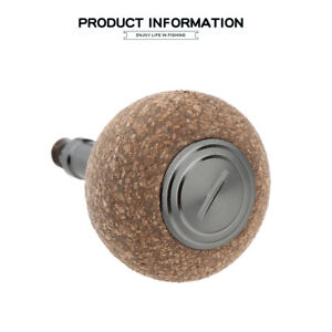 Shimano Daiwa Reel Handle Power Knob Soft Rubber Cork Wood Spinning Baitcasting
