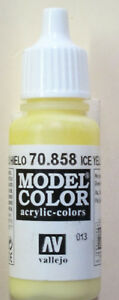 Vallejo Model Color Paint: 17ml  Ice Yellow 70858 (M013)