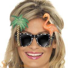 Flamingo Palm Tree Fancy Dress Sunglasses Hawaiian Glasses Beach Party