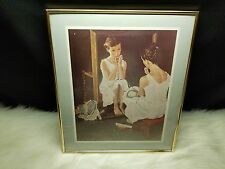 "Norman Rockwell ""Girl At Mirror"" 8x10 Framed Print"
