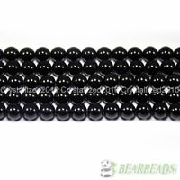 Natural Black Onyx Gemstones Round Beads 2mm 3mm 4mm 5mm 6mm 8mm 10mm 12mm 15.5""