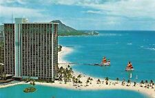 Postcard HI Hawaii Oahu Hilton Hawaii Village Waikiki Unused NrMINT c1960s-70s