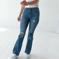 Levi's High Rise Flare Damen Blau Bootcut Jeans DE 36 / W29 L32