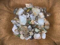 3000 Carat Lots of Unsearched Blue Opal Rough + a FREE faceted Gemstone