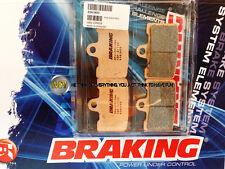 PER BUELL 1125 CR  2008 08 PASTIGLIE ANTERIORE SINTERIZZATE FRENO BRAKING CM55 S