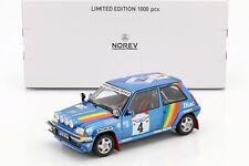 NOREV 1/18 Renault 5 GT Turbo #4, Cote D'Ivoire 1990, Oreille, Roissard (185199)