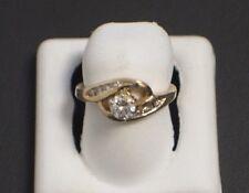 14 K Yellow Gold  Diamond Ring Size 3.75