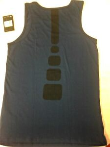AUTHENTIC NIKE ELITE BACK PRINT DRI FIT  NAVY TANK TOP AA4507-410