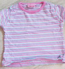 Baby Girls Clothes 6-9 months Pink Blue Candy Stripe Short Sleeve T-Shirt Summer