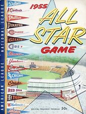 1955 ALL STAR PROGRAM 8X10 PHOTO WITH GREAT GRAPHICS AND TEAM PENNENTS 8x10