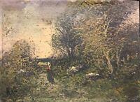 Peinture sur carton première moitié du XIXe anonyme