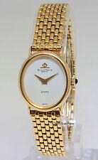 Baume & Mercier Dress 18k Yellow Gold White Dial Ladies Quartz 48232