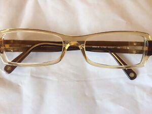 Chanel 3064B C.756 51x17 Clear Beige/Brown Acetate Frame Eyeglasses CC crystals
