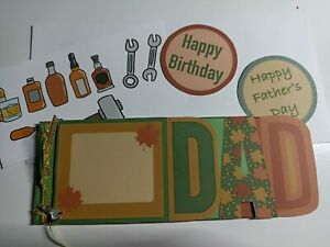 Handmade mini-Album / word book/ card, Dad, Father's Day, card making, gift,