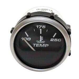 Faria Boat Temperature Gauge GJ0001A   2 Inch Metallic Silver Black