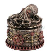 Steampunk Octopus Sculpture Trinket Box Statue Figurine